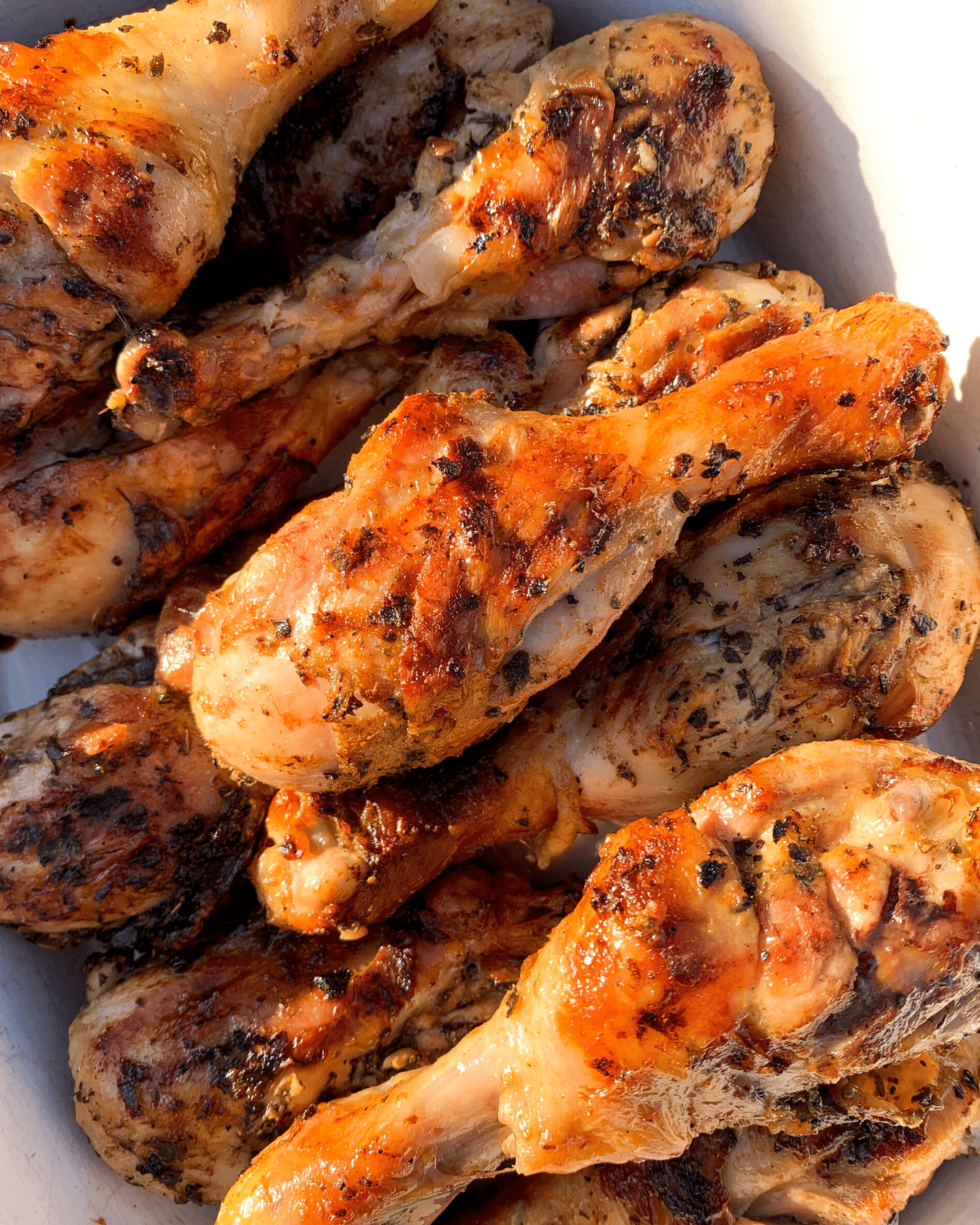 Greek grilled chicken drumsticks